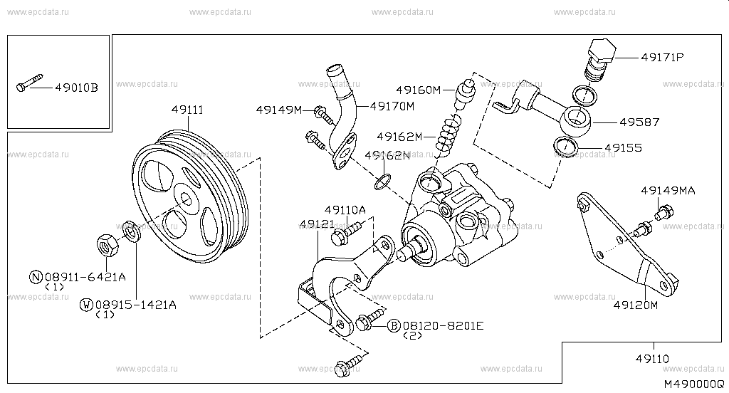 Power Steering Pump (Chassis)