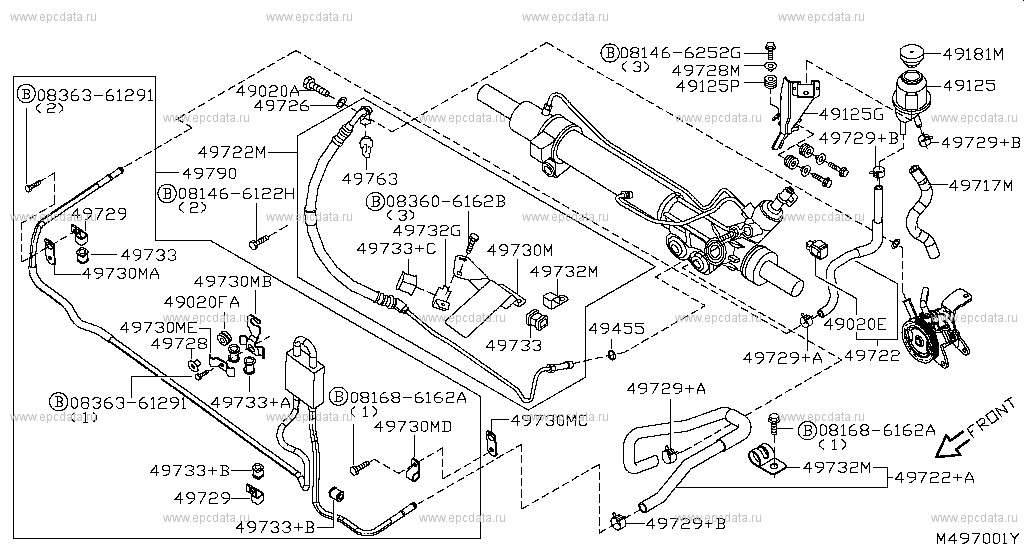 Power Steering Piping (Chassis)